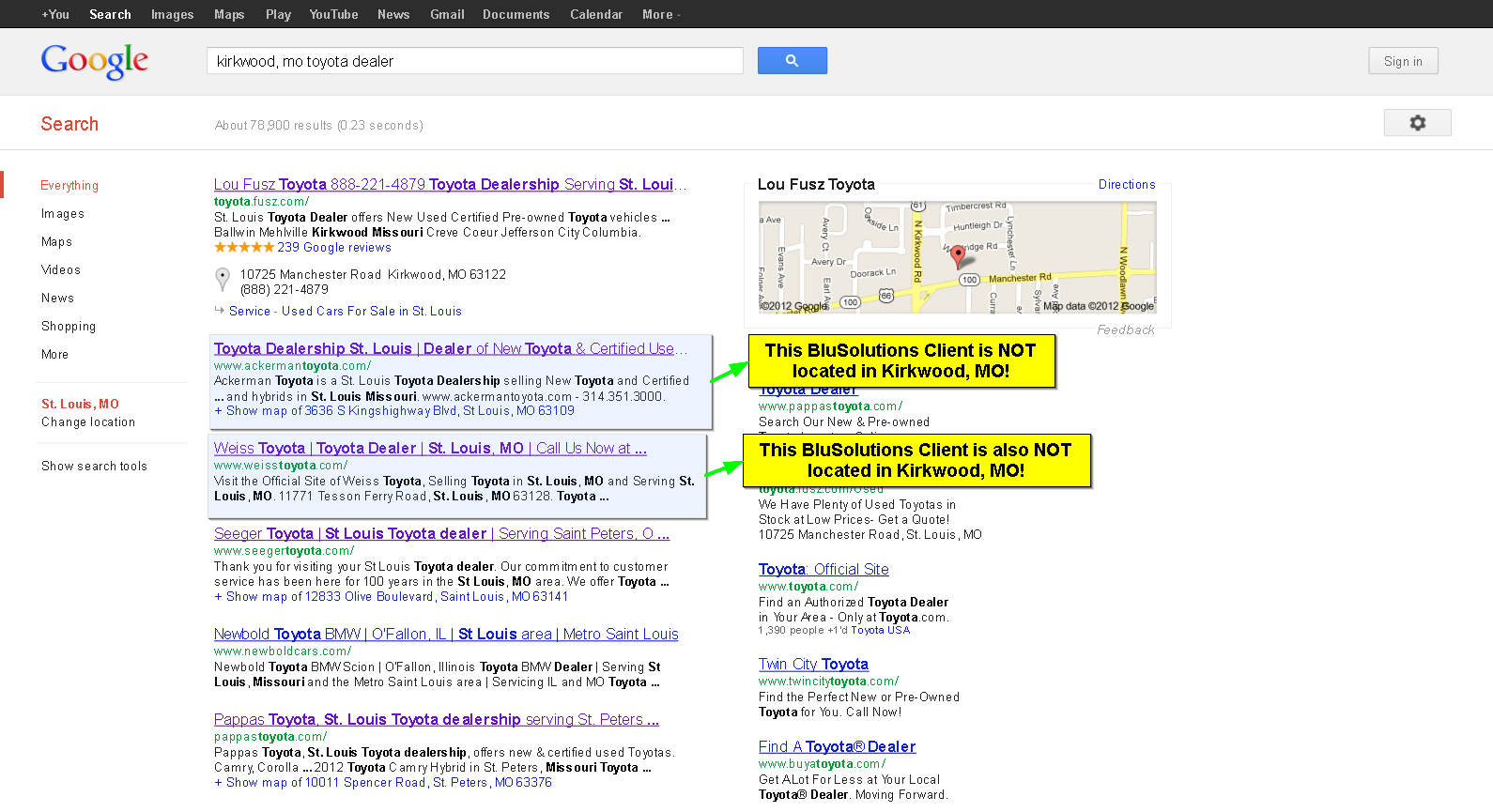 Automotive SEO Competitor City Targeting